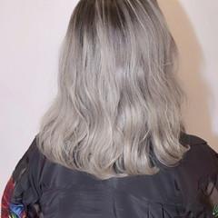 ウェーブ ミディアム 外国人風 ストリート ヘアスタイルや髪型の写真・画像