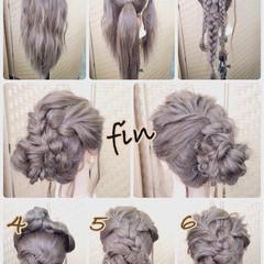 ロング お団子 和装 アップスタイル ヘアスタイルや髪型の写真・画像
