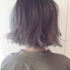 アッシュ ストリート ボブ ゆるふわ ヘアスタイルや髪型の写真・画像