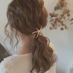 ゆるふわ アッシュ 夏 ロング ヘアスタイルや髪型の写真・画像