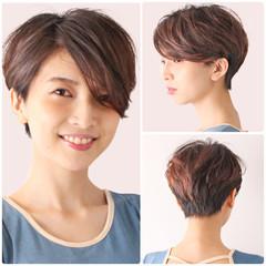 ベリーショート ナチュラル ハンサムショート マッシュショート ヘアスタイルや髪型の写真・画像