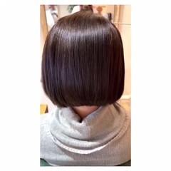 大人女子 髪質改善トリートメント まとまるボブ 髪質改善 ヘアスタイルや髪型の写真・画像