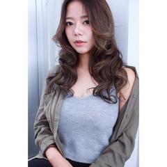 ロング 外国人風 アッシュ 秋 ヘアスタイルや髪型の写真・画像