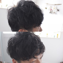 パーマ ショート メンズ ストリート ヘアスタイルや髪型の写真・画像