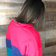 エアータッチ バレイヤージュ ミディアム ストリート ヘアスタイルや髪型の写真・画像