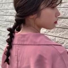 小顔ヘア 可愛い スタイリング ヘアアレンジ ヘアスタイルや髪型の写真・画像
