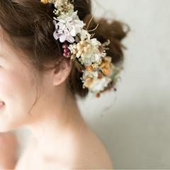 セミロング 簡単ヘアアレンジ エレガント 上品 ヘアスタイルや髪型の写真・画像