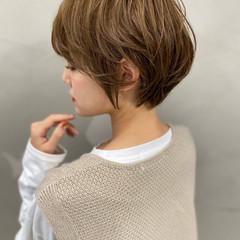 ショートボブ マッシュショート ショートヘア フェミニン ヘアスタイルや髪型の写真・画像