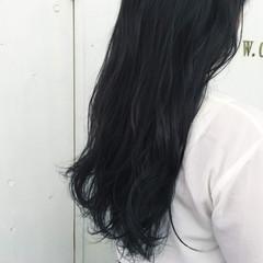 ブルージュ ブルー ロング 暗髪 ヘアスタイルや髪型の写真・画像