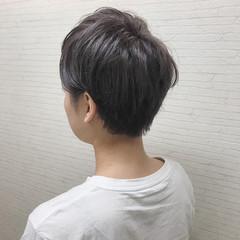 アウトドア ショート ハイライト 外国人風 ヘアスタイルや髪型の写真・画像