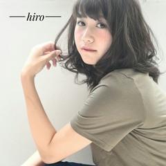 フェミニン 小顔 ガーリー セミロング ヘアスタイルや髪型の写真・画像