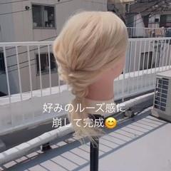 ミディアム ショートヘアアレンジ 簡単ヘアアレンジ ヘアアレンジ ヘアスタイルや髪型の写真・画像