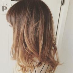ブラウン 外国人風 かわいい ロング ヘアスタイルや髪型の写真・画像