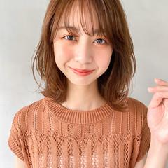 ミディアムレイヤー 韓国ヘア 大人かわいい ヘアアレンジ ヘアスタイルや髪型の写真・画像