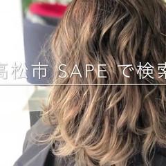 メッシュ セミロング 大人かわいい 上品 ヘアスタイルや髪型の写真・画像