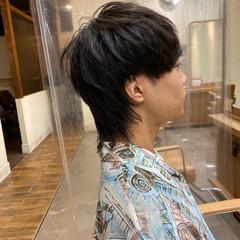 ウルフカット メンズカット ニュアンスウルフ モード ヘアスタイルや髪型の写真・画像