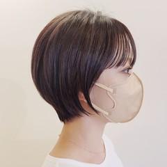 小顔ショート インナーカラー コンパクトショート ショートヘア ヘアスタイルや髪型の写真・画像