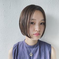 ショートヘア ミニボブ ボブ グレージュ ヘアスタイルや髪型の写真・画像