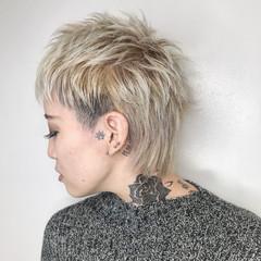 ショート モード ニュアンスウルフ ウルフカット ヘアスタイルや髪型の写真・画像
