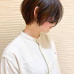 ショートボブ ショート ナチュラル オフィス ヘアスタイルや髪型の写真・画像