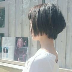 おフェロ 透明感 ショート フェミニン ヘアスタイルや髪型の写真・画像