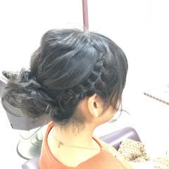 かわいい 三つ編み ボブ ヘアアレンジ ヘアスタイルや髪型の写真・画像