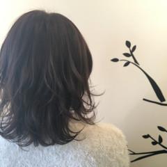 ゆるふわ アッシュ ガーリー セミロング ヘアスタイルや髪型の写真・画像