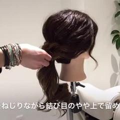 ヘアアレンジ グラデーションカラー フェミニン 大人かわいい ヘアスタイルや髪型の写真・画像