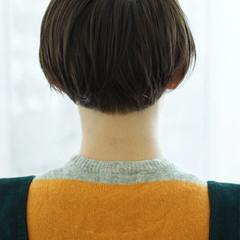 ショート ガーリー アシメバング 前髪あり ヘアスタイルや髪型の写真・画像
