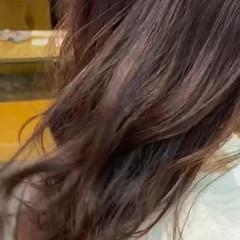 ブリーチ無し チェリーレッド レッドブラウン レッドカラー ヘアスタイルや髪型の写真・画像