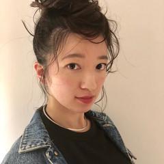 ヘアアレンジ フェミニン アンニュイほつれヘア デート ヘアスタイルや髪型の写真・画像
