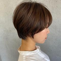 ベリーショート ナチュラル ショートヘア ミニボブ ヘアスタイルや髪型の写真・画像