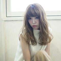 イルミナカラー 大人かわいい デジタルパーマ セミロング ヘアスタイルや髪型の写真・画像