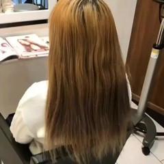 ロング ラベンダーピンク フェミニン ピンクブラウン ヘアスタイルや髪型の写真・画像