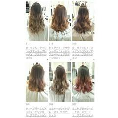 ロング グラデーションカラー 外国人風 ヘアアレンジ ヘアスタイルや髪型の写真・画像