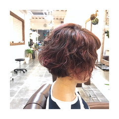 秋 3Dカラー ストリート ラフ ヘアスタイルや髪型の写真・画像