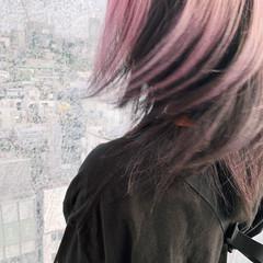 ブリーチ ミディアム ダブルカラー ブリーチカラー ヘアスタイルや髪型の写真・画像
