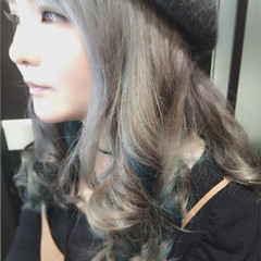 外国人風 ガーリー ミディアム 渋谷系 ヘアスタイルや髪型の写真・画像