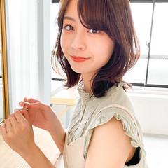 ミディアム アンニュイほつれヘア ヘアアレンジ パーティー ヘアスタイルや髪型の写真・画像