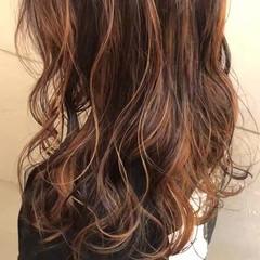 ストリート オレンジカラー インナーカラーオレンジ オレンジ ヘアスタイルや髪型の写真・画像