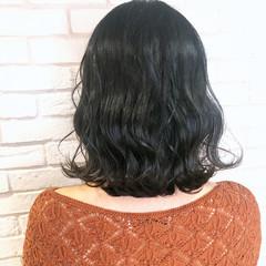 アディクシーカラー 暗髪 切りっぱなしボブ ミニボブ ヘアスタイルや髪型の写真・画像