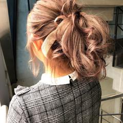 ガーリー 愛され バレンタイン ミディアム ヘアスタイルや髪型の写真・画像