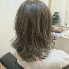 ハイライト 外国人風 セミロング モード ヘアスタイルや髪型の写真・画像