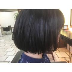 ハイライト 暗髪 マット ワンカール ヘアスタイルや髪型の写真・画像
