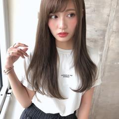 ワンカールスタイリング コンサバ ストレート 前髪 ヘアスタイルや髪型の写真・画像