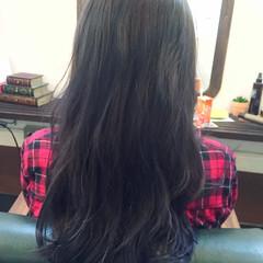 ストリート ネイビーアッシュ グレー ブルー ヘアスタイルや髪型の写真・画像