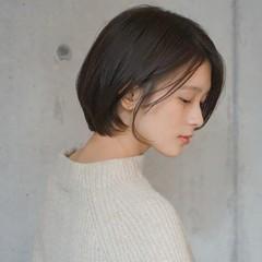 小顔 ショートボブ ショート 透明感 ヘアスタイルや髪型の写真・画像