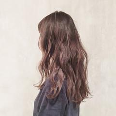 前髪あり ロング 外国人風 デジタルパーマ ヘアスタイルや髪型の写真・画像