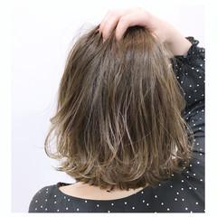 外国人風 ウェーブ ハイライト エレガント ヘアスタイルや髪型の写真・画像