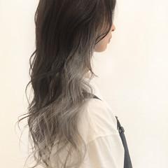 ブリーチカラー インナーカラー エレガント ホワイトカラー ヘアスタイルや髪型の写真・画像